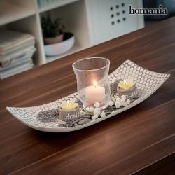 Centro de mesa com porta-velas
