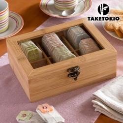 Caixa de chá em bambu