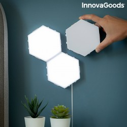 Conjunto de painéis LED...